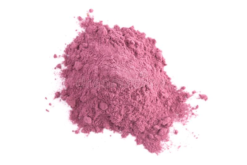 Heller farbiger Acai Berry Powder Perfect für das Hinzufügen Rezepten lizenzfreies stockbild