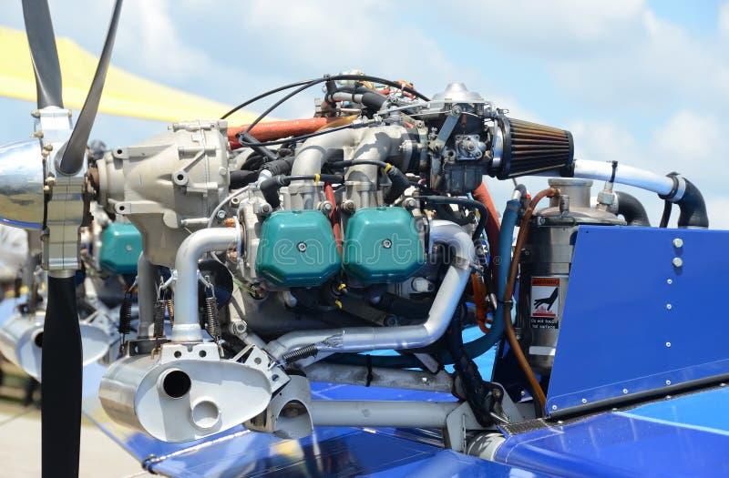Heller Flugzeugmotor lizenzfreies stockfoto