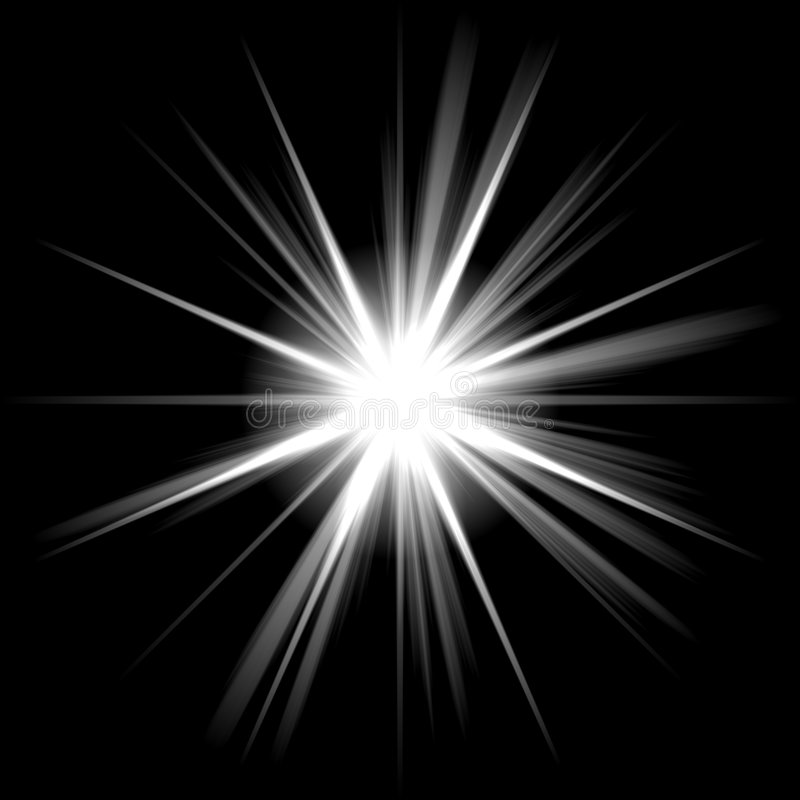 Heller glänzender Stern stock abbildung