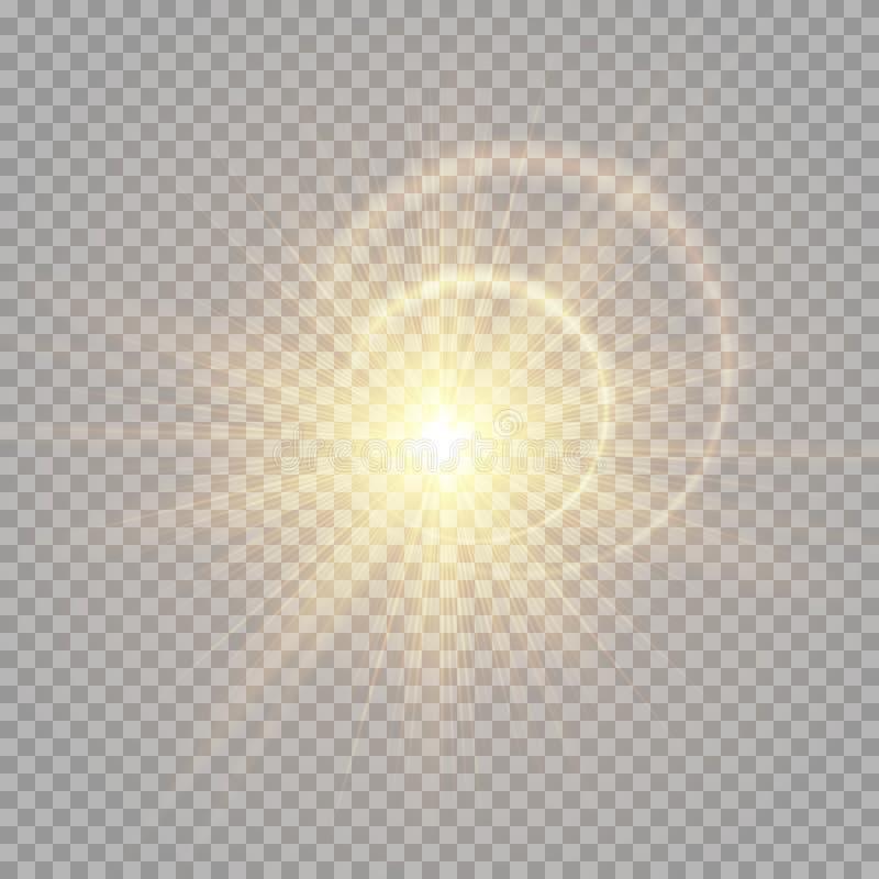 Heller goldener Blitz vektor abbildung