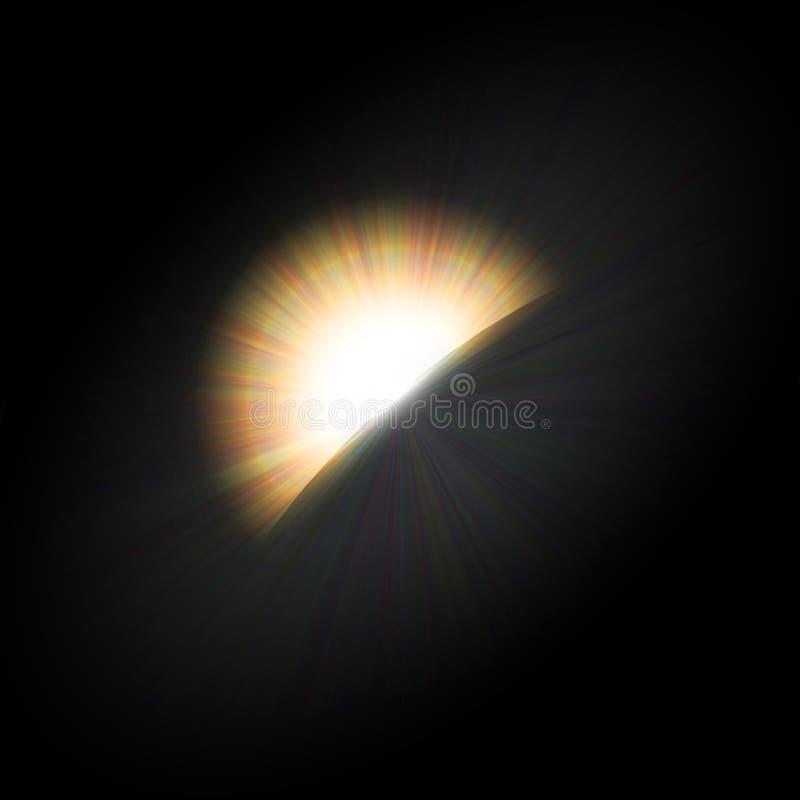 Heller Halohintergrund der Eklipse lizenzfreie abbildung