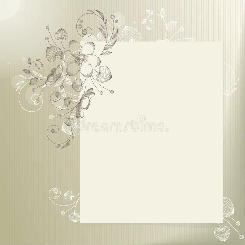 Heller Hintergrund mit Blume stock abbildung