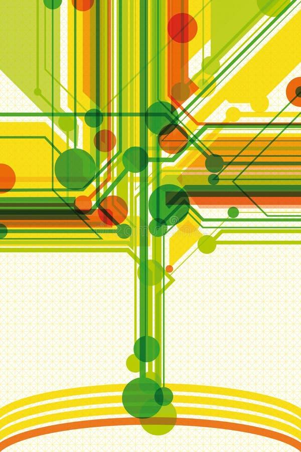 Heller Hintergrund mit digitalem Baum stock abbildung