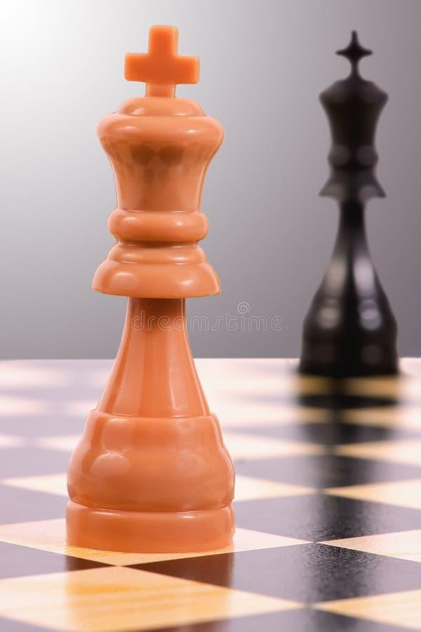 Heller König gegen dunklen König stockbilder