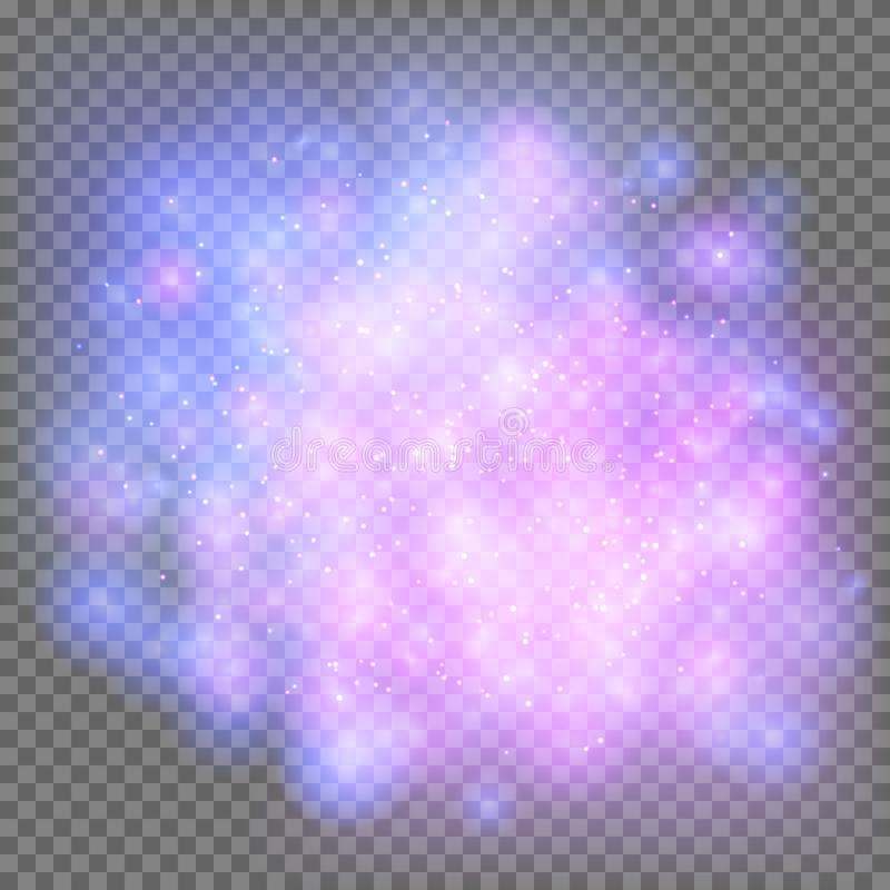 Heller kosmischer Nebelfleck vektor abbildung