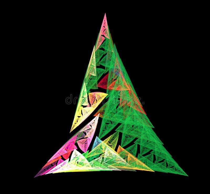 Heller kreativer bunter Weihnachtsbaum auf Schwarzem lizenzfreie stockbilder