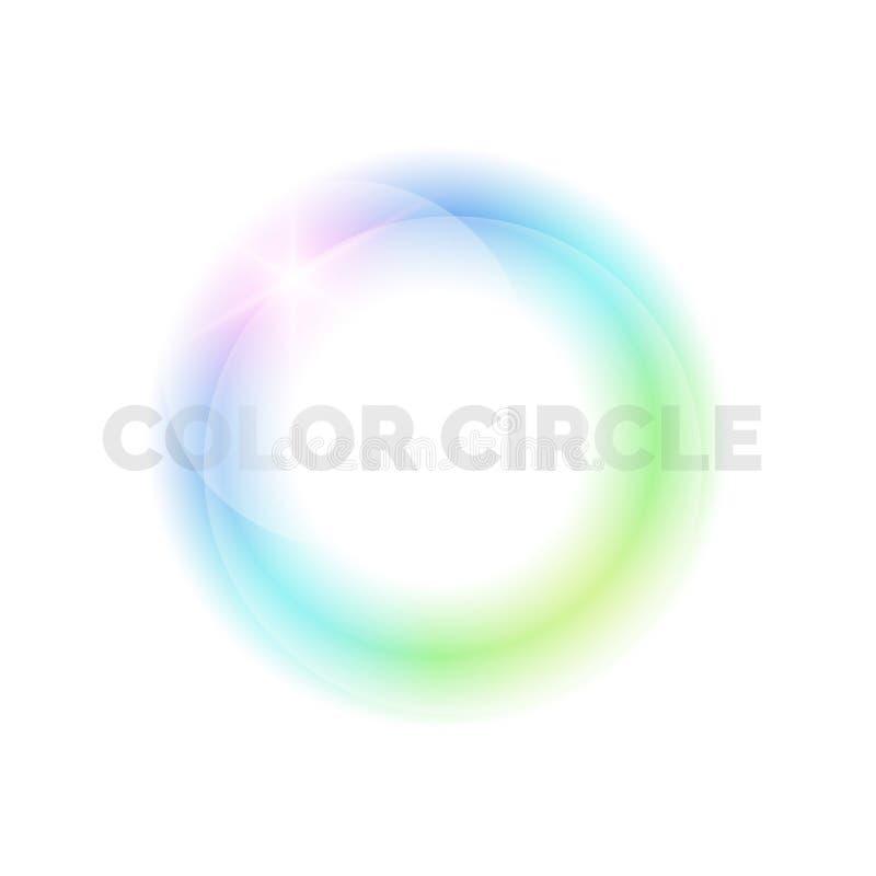Heller Kreis auf einem hellen Hintergrund vektor abbildung