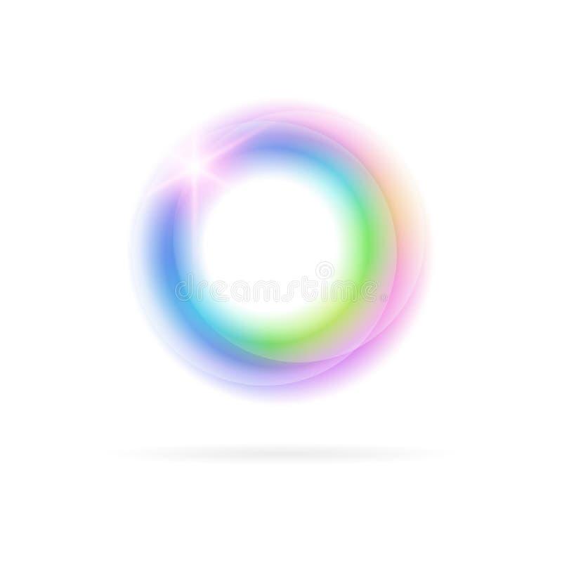 Heller Kreis auf einem hellen Hintergrund stock abbildung
