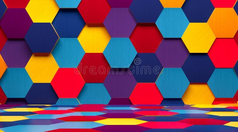 Heller mehrfarbiger Raum-Hintergrund stock abbildung