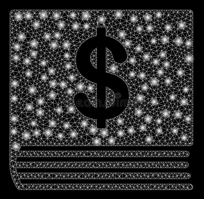 Heller Mesh Network Dollar Accounting Book mit grellen Stellen stock abbildung