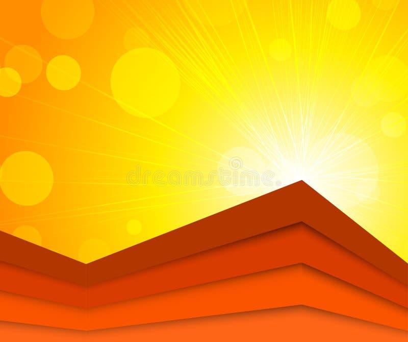 Download Heller orange Hintergrund vektor abbildung. Illustration von farbe - 26353640