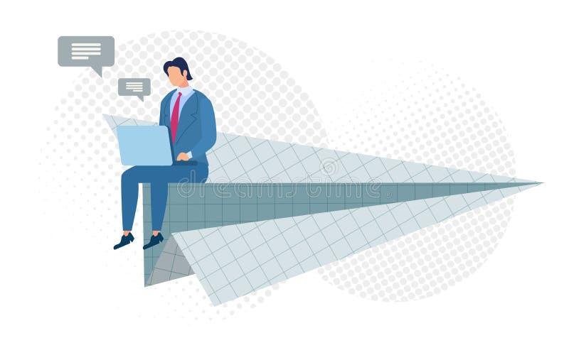 Heller Plakat-Licht-Flug-virtuelle gedachte Ebene stock abbildung