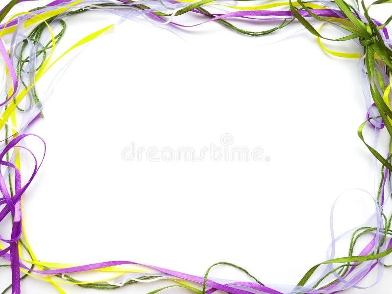 Heller Rahmen von farbigen Bändern stockbild