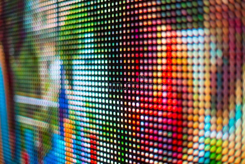 Heller Regenbogen smd LED Schirm stockfotos
