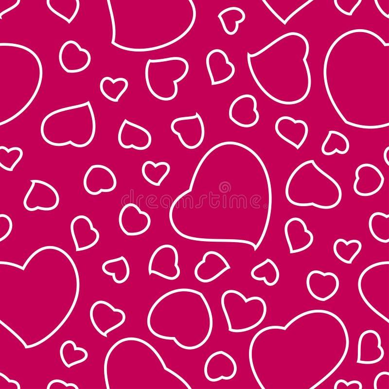 heller rosa valentinstag hintergrund mit herz nahtlosem muster vektor abbildung bild 41823073. Black Bedroom Furniture Sets. Home Design Ideas