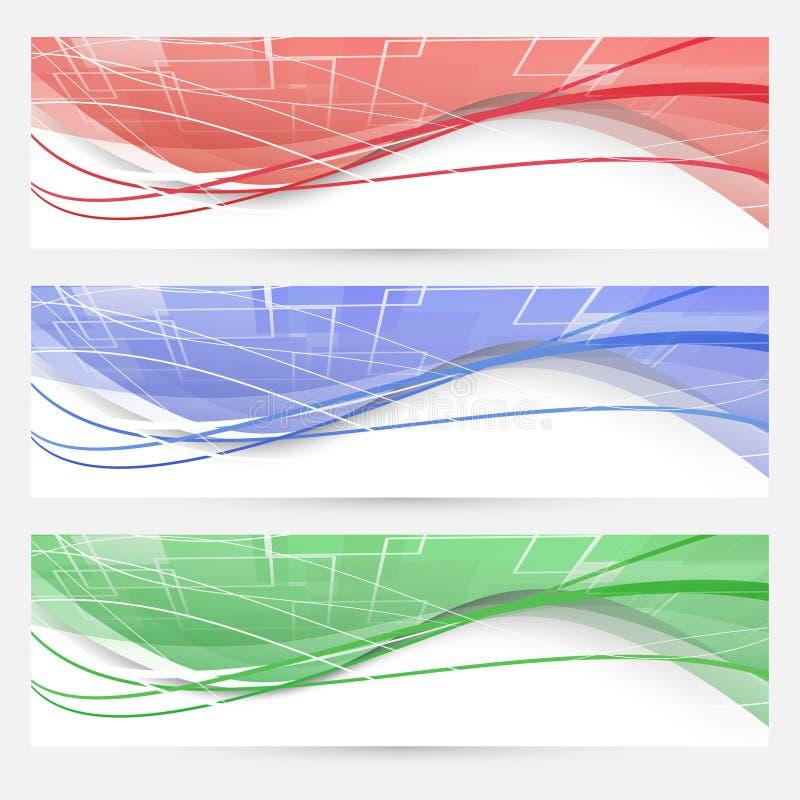 Heller Swoosh zeichnet geometrische Netzelemente stock abbildung
