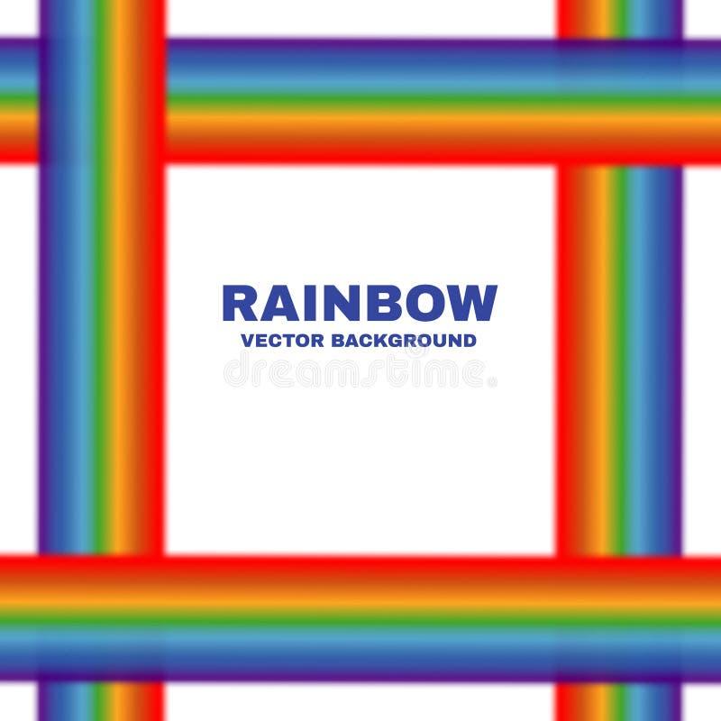 Heller Vektorregenbogenrahmen-Weißhintergrund vektor abbildung