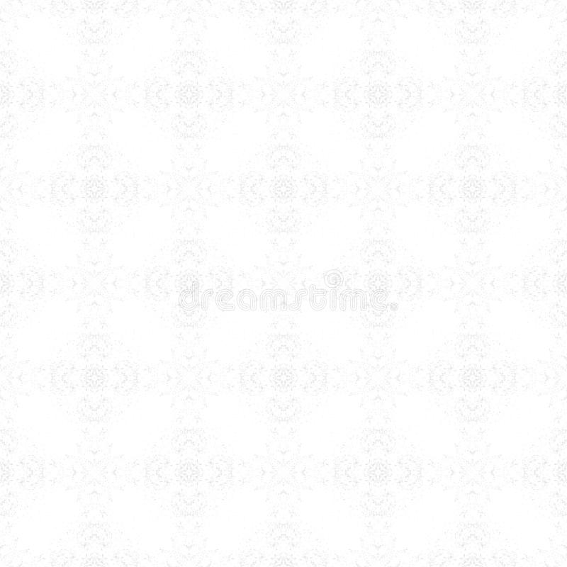 Heller weiß-grauer Hintergrund Gewebedruck Geometrisches Muster in der Wiederholung Nahtlose Schmutzoberfläche, Mosaikverzierung, stock abbildung