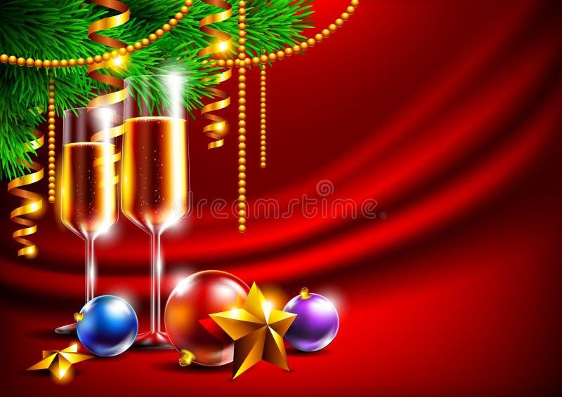 Heller Weihnachtshintergrund stockfotos