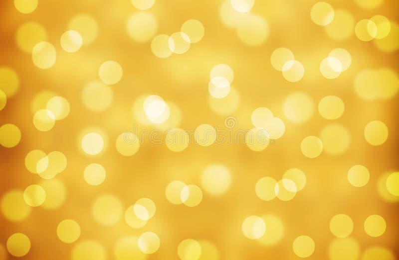 Helles abstraktes goldfarbenes Funkelhintergrund Weihnachten und Neues Jahr lizenzfreie abbildung