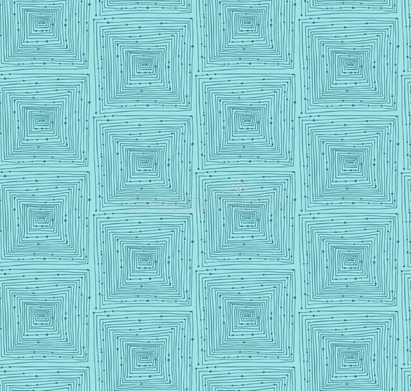 Helles abstraktes lineares geometrisches nahtloses Muster. Endloser Hintergrund mit Labyrinthen stock abbildung