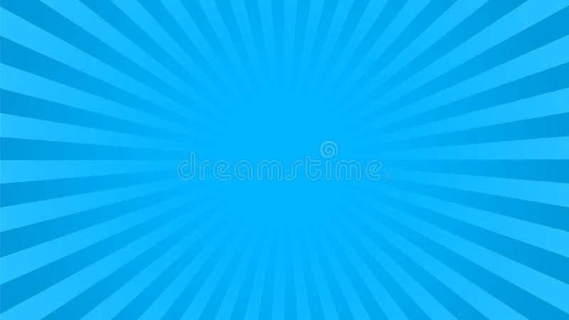 Helles Blau strahlt Hintergrund aus lizenzfreie abbildung