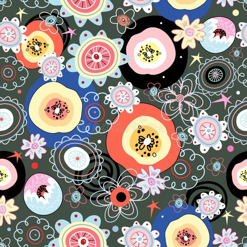 Helles Blumenmuster stock abbildung