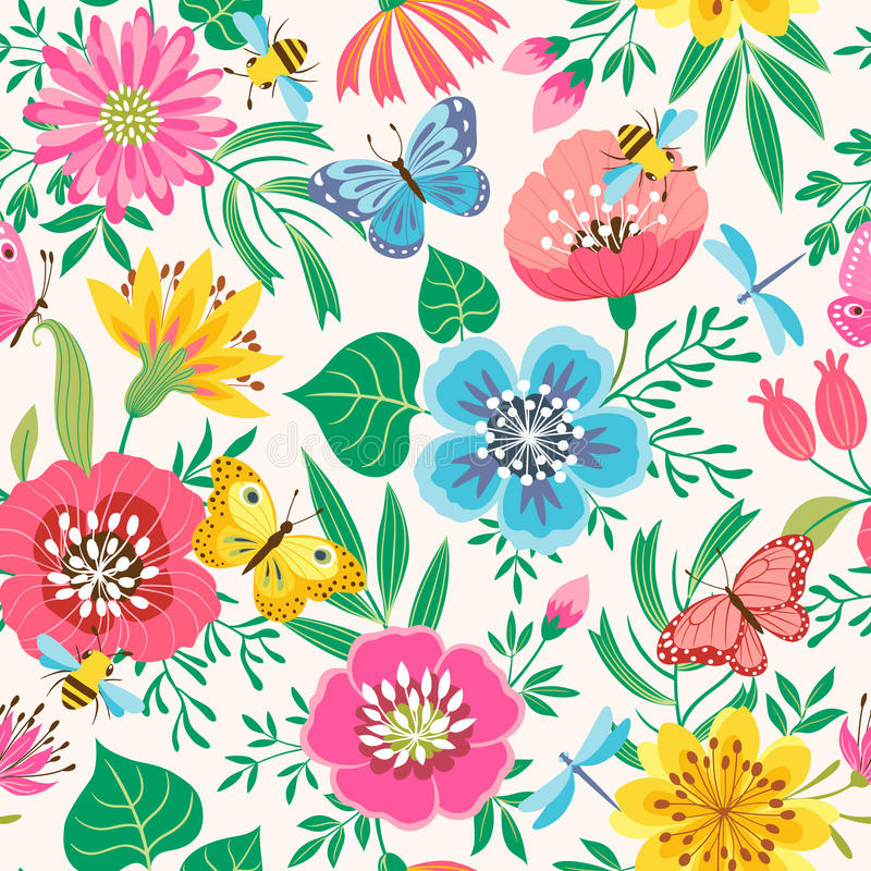 Helles Blumenmuster lizenzfreie abbildung