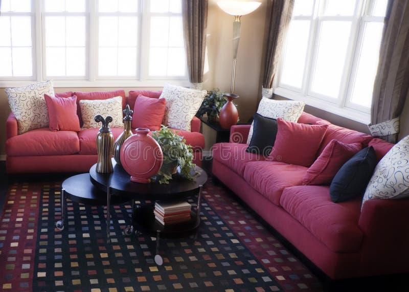 Download Helles buntes Wohnzimmer stockfoto. Bild von fashion, raum - 9081924