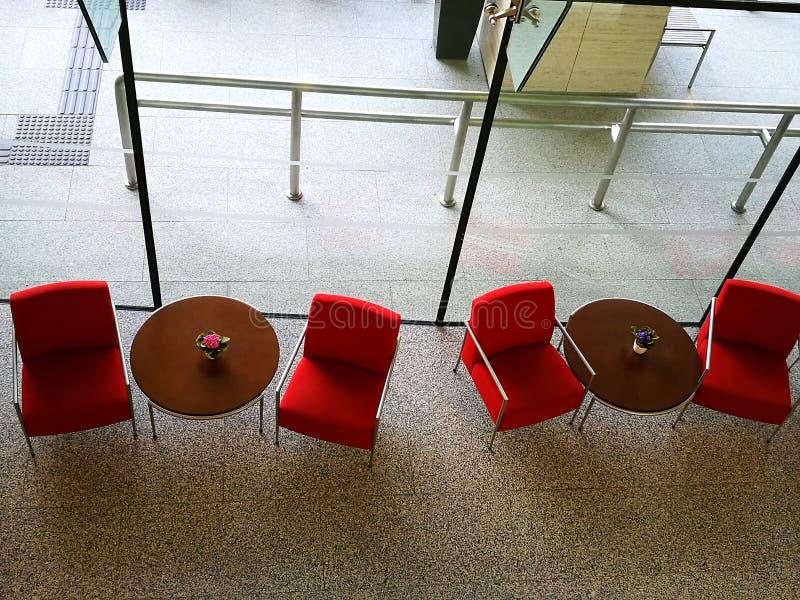 Helles Design des Lobbybereichs lizenzfreies stockbild