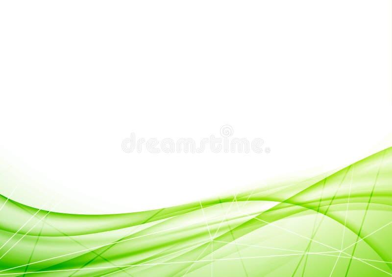 Helles eco geometrischer Plan grüner Welle lizenzfreie abbildung
