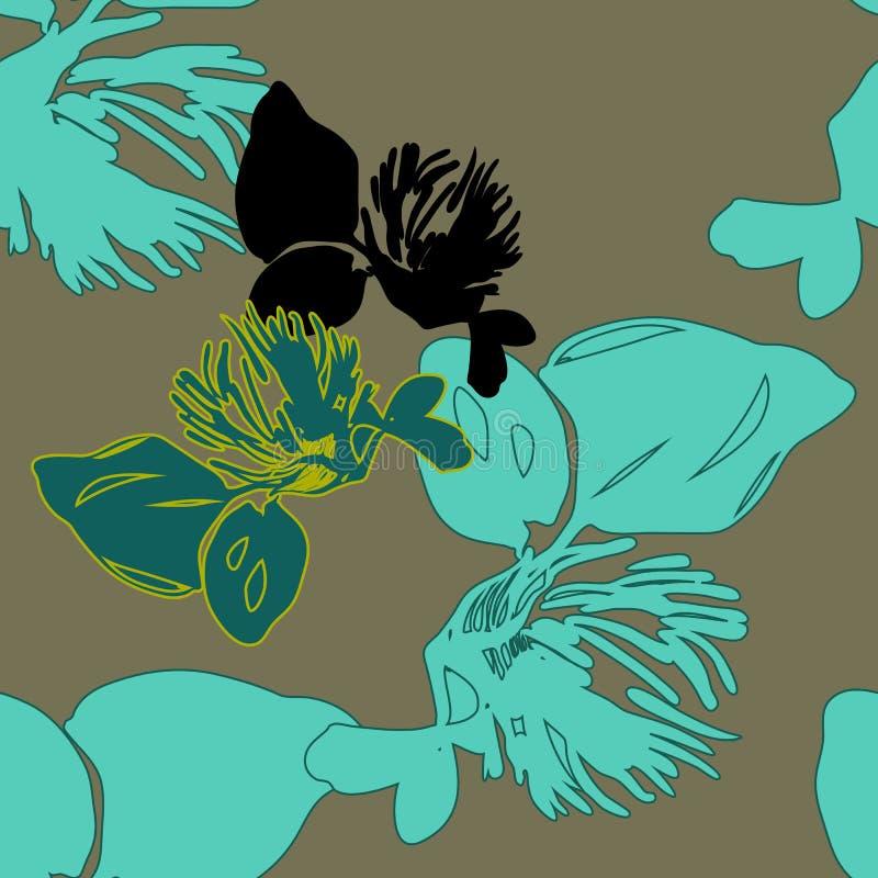 Helles Farbweinlesefrühlings-Blumenmuster lizenzfreies stockfoto