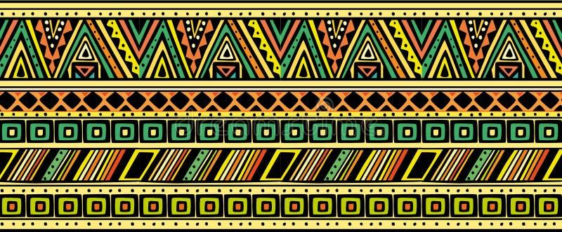 Helles horizontales ethnisches Muster vektor abbildung