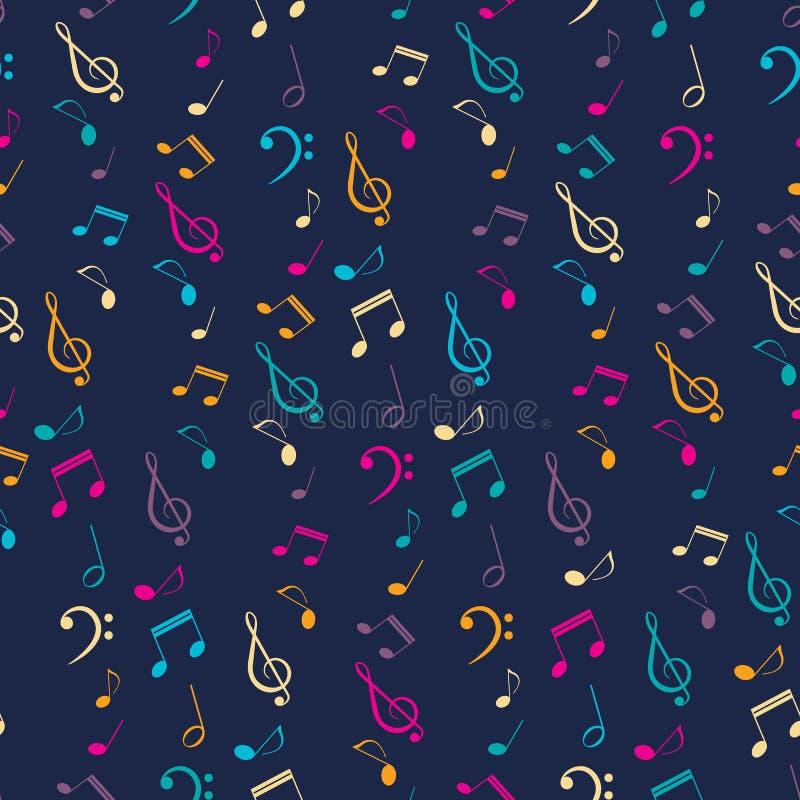 Helles musikalisches nahtloses Muster lizenzfreie abbildung