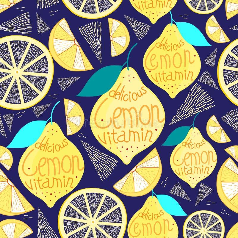 Helles Muster von Zitronen stock abbildung