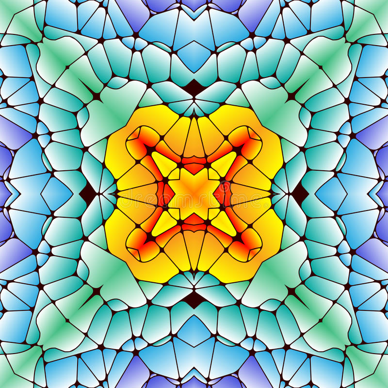Helles nahtloses abstraktes Muster, Kaleidoskop lizenzfreie abbildung