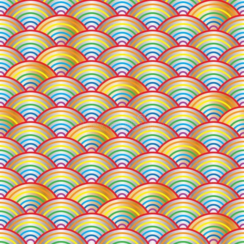Helles nahtloses Muster der Regenbogenhalbzeile lizenzfreie abbildung