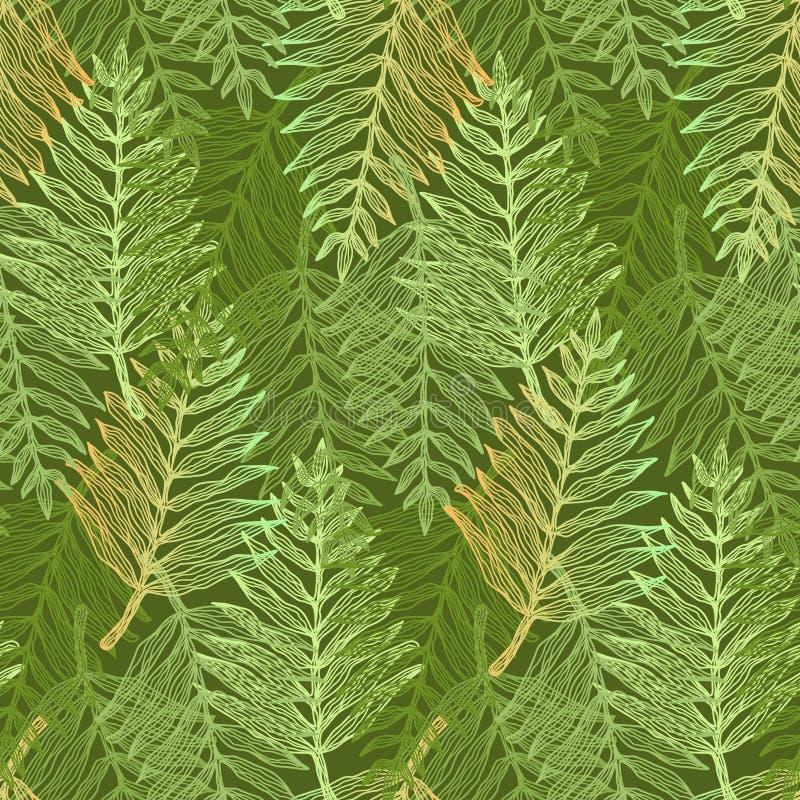 Helles neues grünes tropisches Blattmuster vektor abbildung