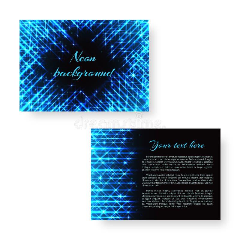 Helles Notizbuch mit Neonlicht lizenzfreie abbildung