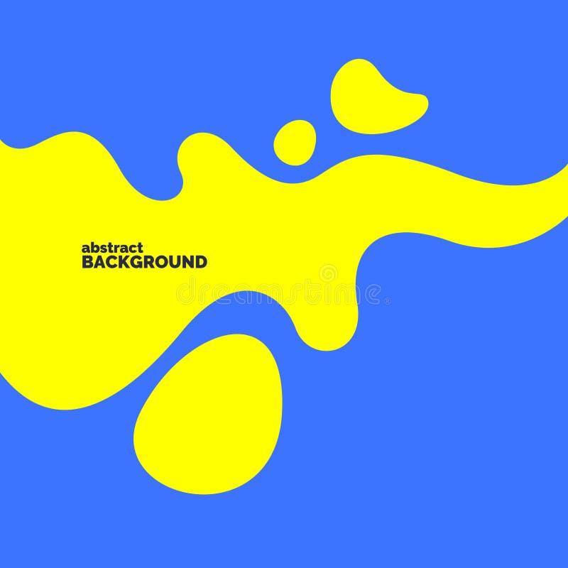 Helles Plakat mit dynamischen Wellen Vektorillustration in der minimalen Art entziehen Sie Hintergrund lizenzfreie abbildung