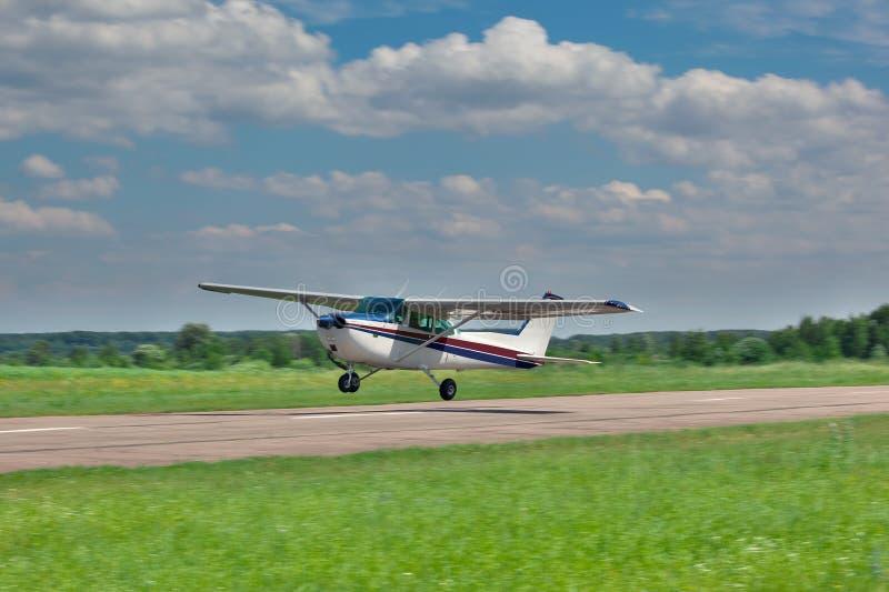 Helles privates Flugzeug stockfoto