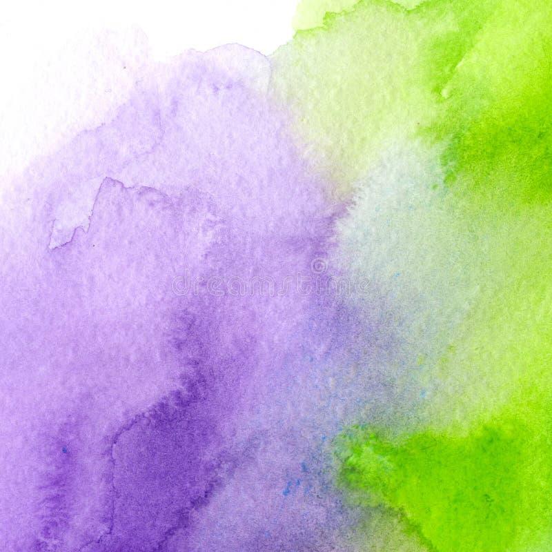Helles purpurrotes und saures Grün, modischer Aquarellhintergrund großes Gestaltungselement für Broschüre, Fahne, Abdeckung, Bros stock abbildung