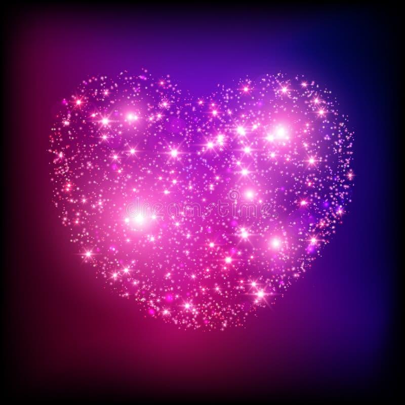 Helles rosa Herz des Scheins. lizenzfreie abbildung