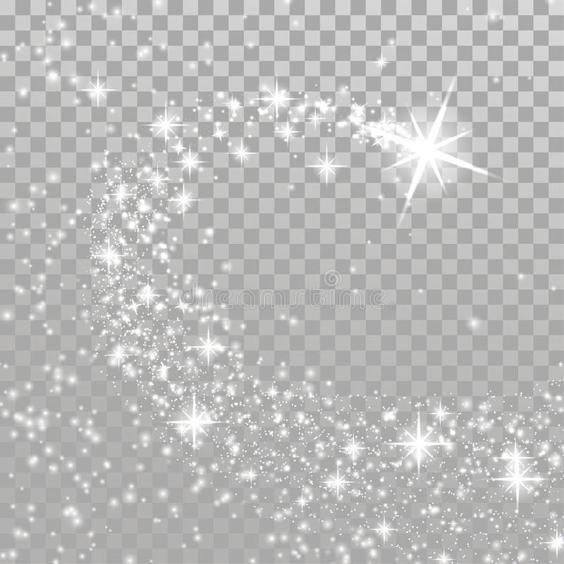 Helles Schießen-Weihnachtsmagischer Stern über kariertem Plan lizenzfreie abbildung