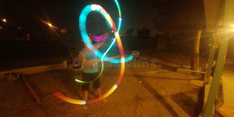 Helles verbiegendes Jonglieren stockfotografie