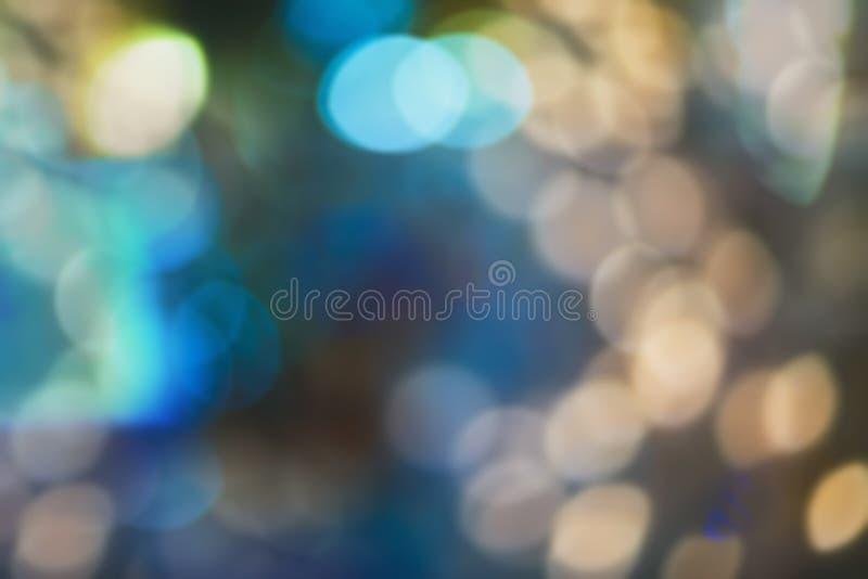 Helles Weihnachten bokeh Hintergrund der Natur Belichteter Dekor lizenzfreies stockfoto