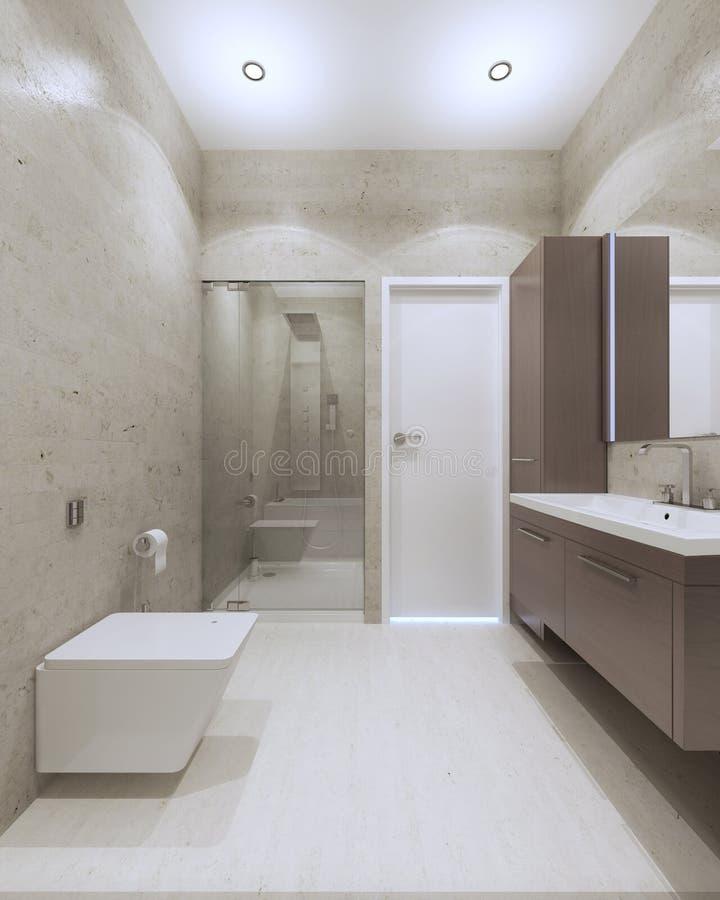 Helles zeitgenössisches Badezimmer vektor abbildung