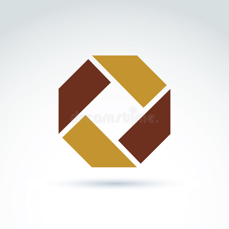 Helles zusammengesetztes Unternehmenselement geschaffen vom unterschiedlichen geometr stock abbildung