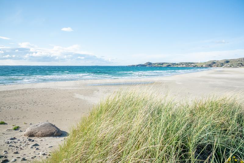 Hellestø beach and sand dunes outside Stavanger, Norway. Hellestø beach and sand dunes oute Stavanger in Norway royalty free stock photography