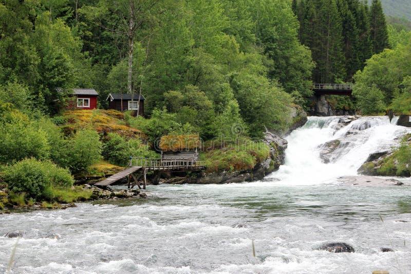 Hellesylt渔地方 库存图片